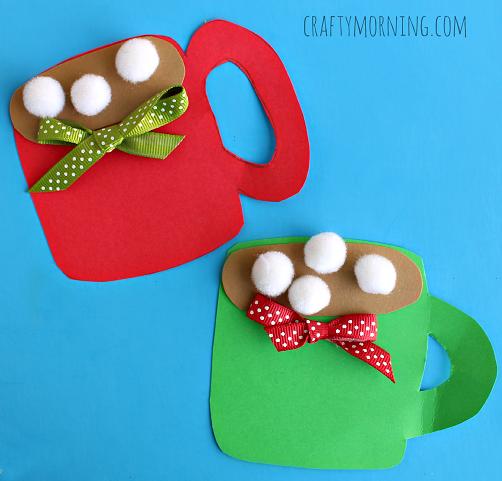 Pom Pom Hot Cocoa Mug Craft for Kids