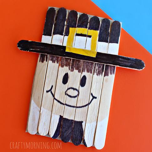 popsicle-stick-pilgrim-craft-for-kids