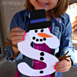 S is for Snowman Winter Craft for Kids