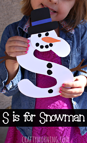 winter toddler crafts s is for snowman winter craft for crafty morning 3238