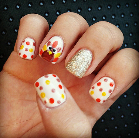 thanksgiving-nail-design - Crafty Thanksgiving Nail Ideas To Try - Crafty Morning