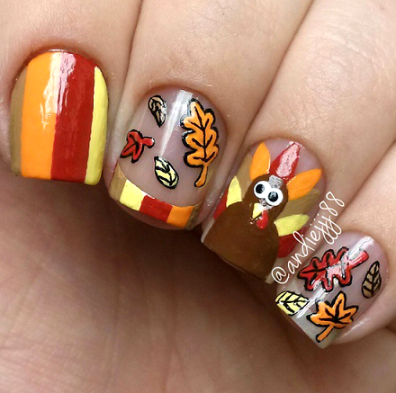 thanksgiving-nail-designs - Crafty Thanksgiving Nail Ideas To Try - Crafty Morning