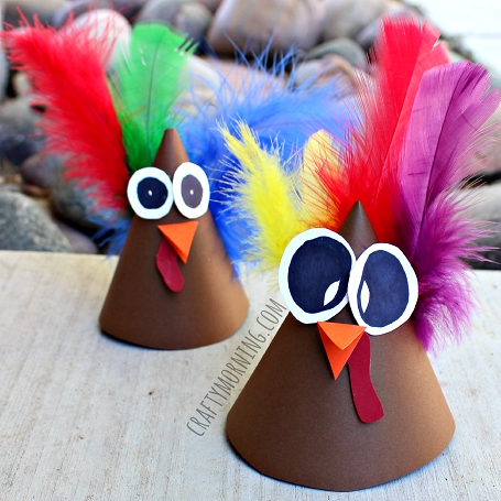 turkey-cone-thanksgiving-craft-for-kids-