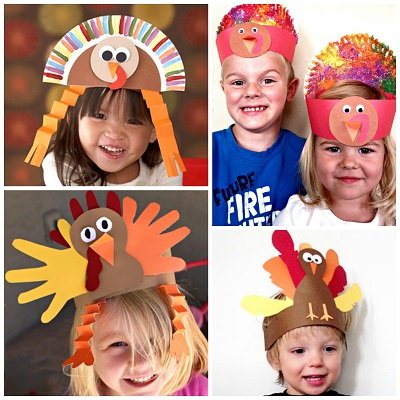 6e084eed71572 8 Easy Turkey Hats for Kids to Make - Crafty Morning