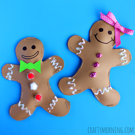 Stuffed Gingerbread Boy Girl Craft For Kids Crafty Morning
