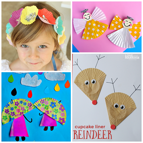 Creative Cupcake Liner Crafts For Kids To Make Crafty