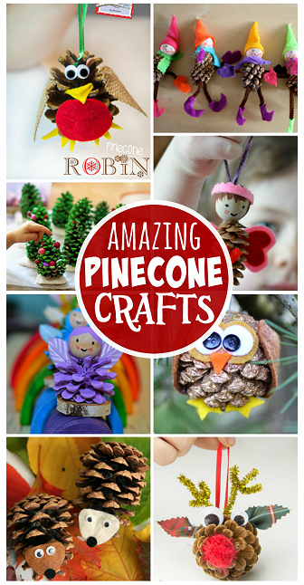 amazing pinecone crafts for kids to make