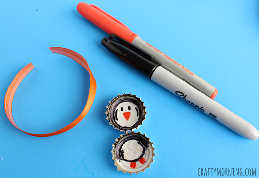 bottle-cap-penguin-craft