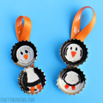 Bottle Cap Penguin Craft for Kids (Ornament Idea)