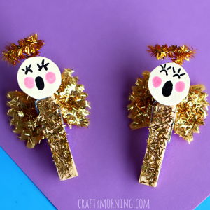 Bow Tie Noodle Angel Craft for Kids