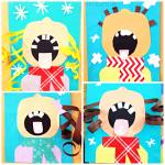 Children Catching Snowflakes (Winter Craft for Kids)