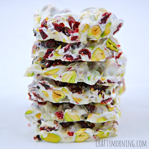 Christmas Bark Recipe (Pistachios and Cranberries) | 14 Christmas Dessert Recipes Every Holiday Celebration Needs