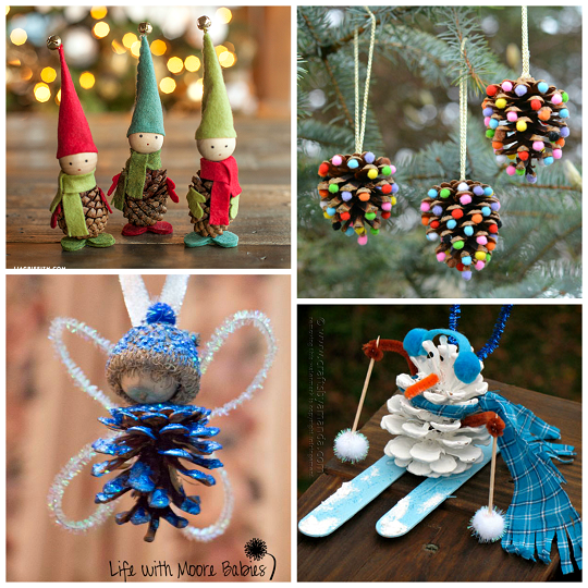 Pine cone crafts for kids to make crafty morning - Crafty winter decorations with pine cones ...