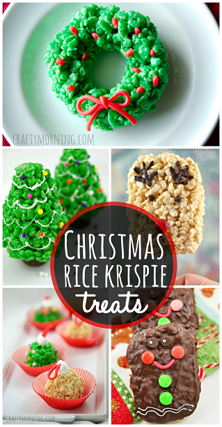 christmas rice krispie treat ideas to make