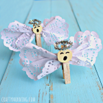 Clothespin Angel Craft Using Doilies