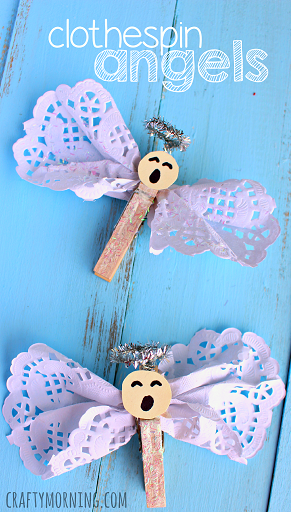 clothespin-doily-angel-crafts-for-kids-to-make