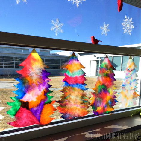 coffee-filter-christmas-tree-craft-for-kids-to-make