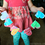 Crayon Resist Mitten Garland Craft for Kids