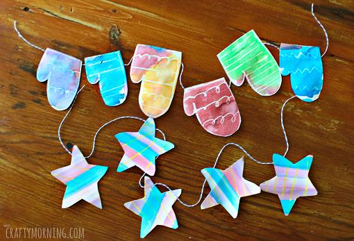 crayon-resist-mitten-winter-garland-craft-for-kids