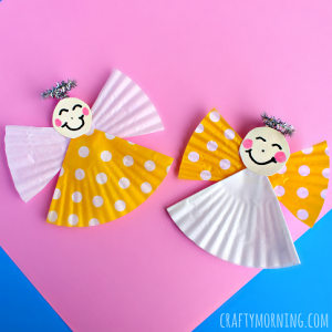 Cupcake Liner Angel Craft for Kids