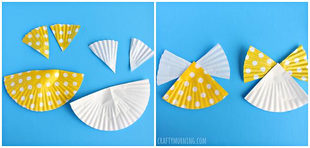 cupcake liner angel craft for kids crafty morning