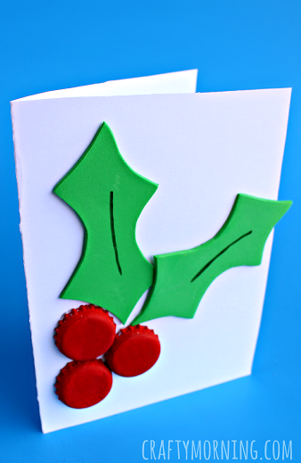 diy-bottle-cap-holly-christmas-card-craft