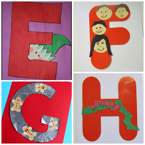 Winter Christmas Alphabet Crafts For Kids Crafty Morning
