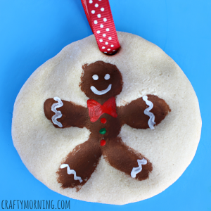 Fingerprint Gingerbread Man Salt Dough Ornament