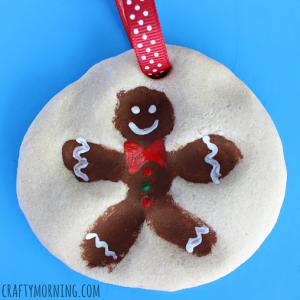 Fingerprint Gingerbread Man Salt Dough Ornament