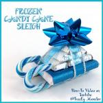 Frozen Candy Cane Sleigh Gift Idea