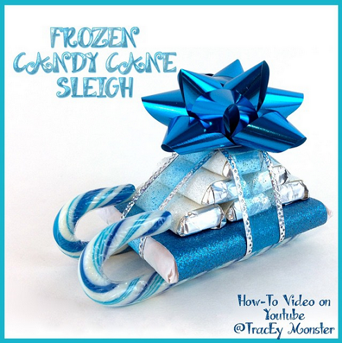 frozen-candy-cane-sleigh-gift-idea