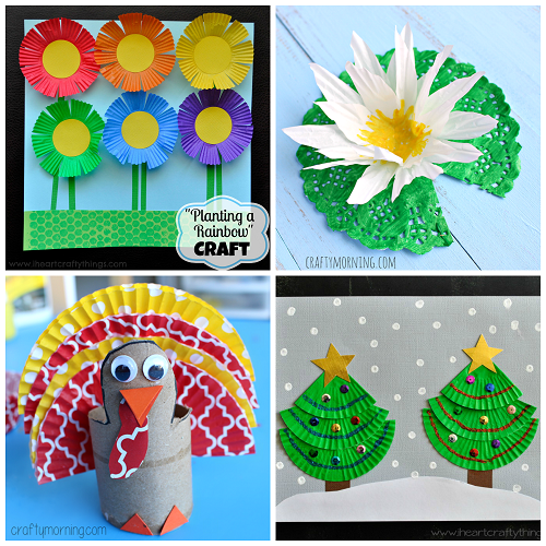 Creative Cupcake Liner Crafts For Kids To Make Crafty Morning
