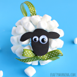 Marshmallow Sheep Christmas Ornament