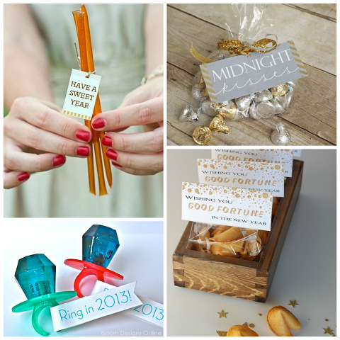 New Year's Confetti Party Favors - A Pumpkin And A Princess
