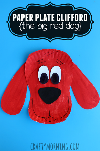 clifford the big red dog craft ideas paper plate clifford craft for big crafty 8014