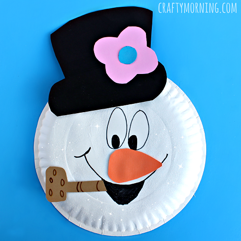 paper-plate-frosty-the-snowman-craft-for-kids- & Paper Plate Frosty the Snowman Craft - Crafty Morning