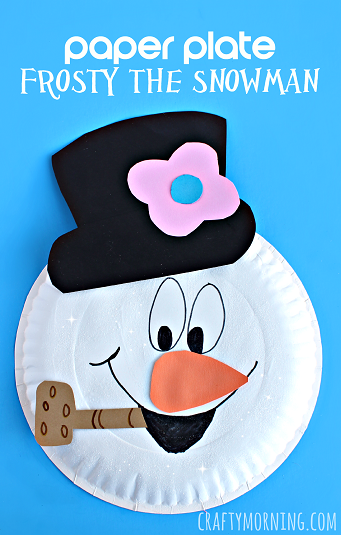 Paper Plate Frosty The Snowman Craft Crafty Morning
