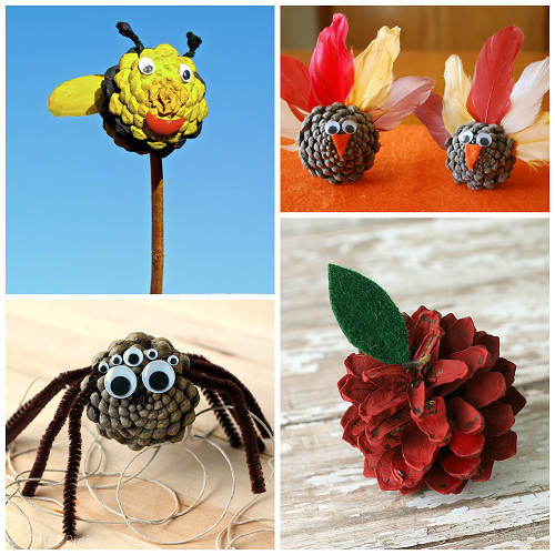 pinecone crafts ideas pine cone crafts for to make crafty morning 2685