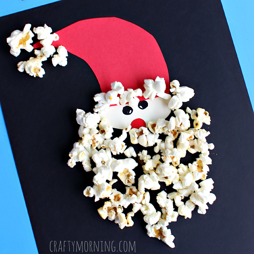 popcorn-santa-claus-christmas-craft-for-kids-