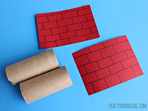 toilet-paper-roll-santa-chimney-craft
