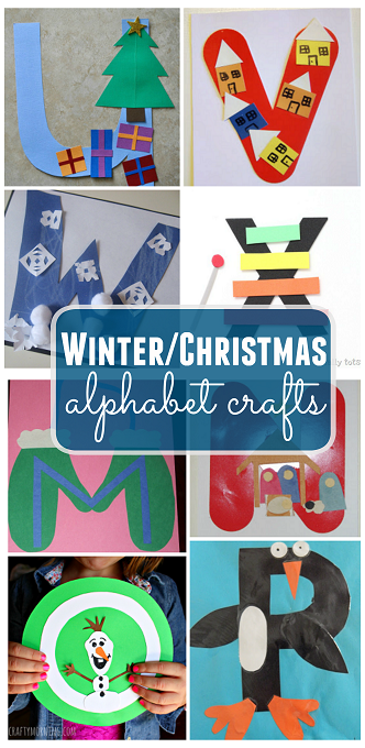 Winter christmas alphabet crafts for kids crafty morning for Winter holiday crafts for kids