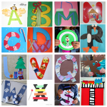 Winter/Christmas Alphabet Crafts for Kids