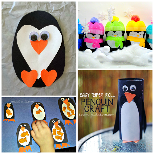 Winter Penguin Crafts For Kids
