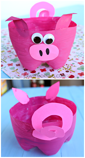 2 Liter Bottle Pig Craft For Kids To Make Crafty Morning