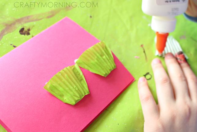 Cupcake Liner Valentines Day Card Idea Crafty Morning – Cupcake Valentine Card