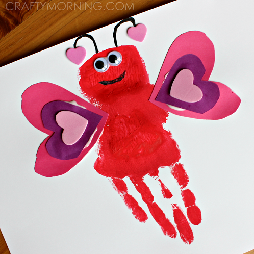 Handprint love bug valentine craft for kids crafty morning for Valentine day crafts for kids