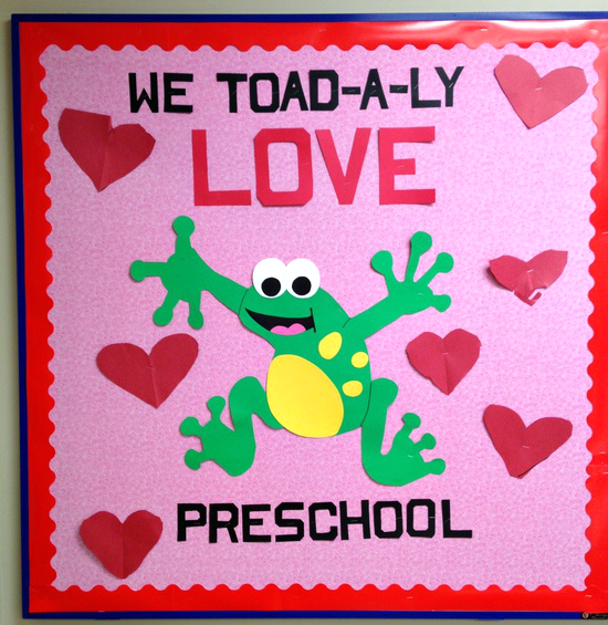Valentines Day Toad Bulletin Board Idea