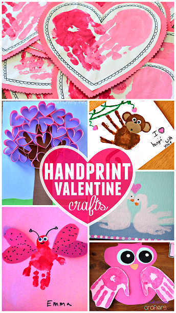 handprint valentine crafts for kids | toddler times | pinterest, Ideas