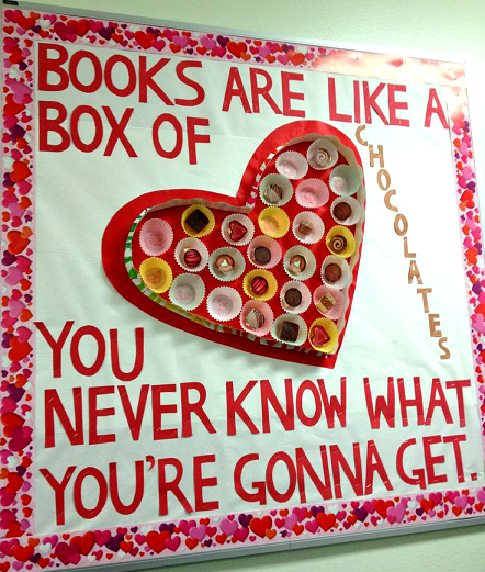 Box Of Chocolate Valentines Day Bulletin Board