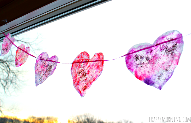 Coffee Filter Heart Garland For Valentines Day